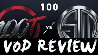 100T vs. TSM - Week 1 Day 1 VOD REVIEW | LCS Spring Split | 100 Thieves vs. TSM (2019)