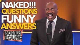 Steve Harvey Asks NAKED Questions & Gets Some Funny Answers On Family Feud USA