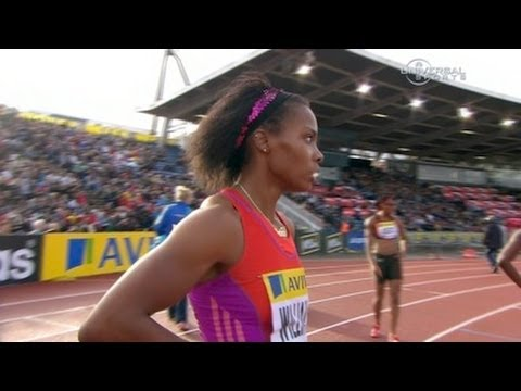 Charonda Williams wins 200m in London - from Universal Sports