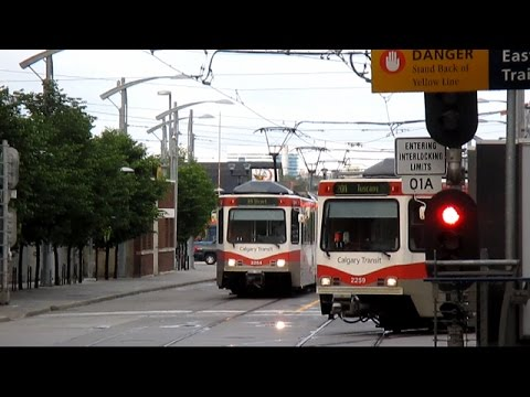Calgary CTrain in Action - June 2015