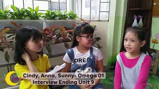 Cindy, Anna, Sunny- Omega 01- Ending Unit 09 Interview