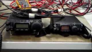 Yaesu FT857/817 5W TX/RX Power Efficiency Tests.