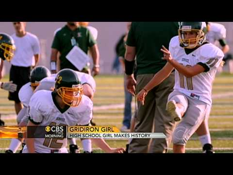 High School Girl Makes Football History video