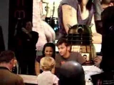 David Tennant and Freema Agyeman at HMV, London Video