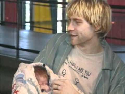 Kurt Cobain Shows Off Frances Bean