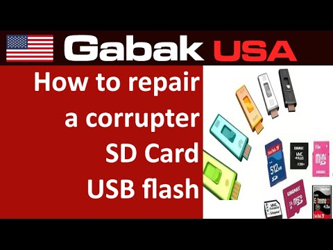 how to repair a corrupted SD Card - USB flash - jump drive