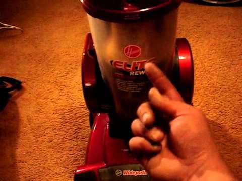 Trash Picked Hoover Elite Rewind Bagless Vacuum Cleaner
