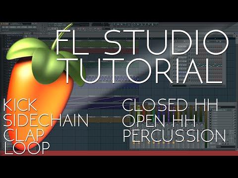FL Studio Tutorial | Kick | Sidechain | Clap | Hihat | Loop | Percussion | Beat