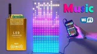 12V LED Wi-Fi Music Spectrum Pixel Panel - 1.64'x0.82' 108 Watt/400 Pixels