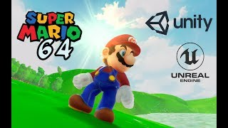 Super Mario 64 remakes on Unreal Engine and Unity ! | Goofin Group