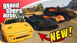 5 DLC AUTO'S DIE NOG NIET BESTAAN IN GTA 5 DOOR HACKER! (GTA V Freeroam)