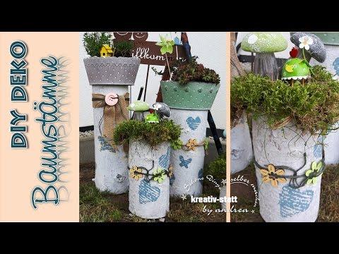 DIY Deko - Baumstämme | Vintage | Pflanzen | Garten  [How To]