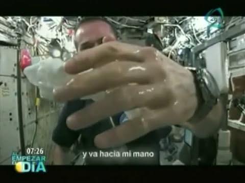 Impresionantes imágenes del comportamiento del agua en espacio