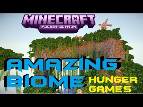 Minecraft PE 0.7.5 Amazing BIOME ! [DOWNLOAD] [Hunger Games]