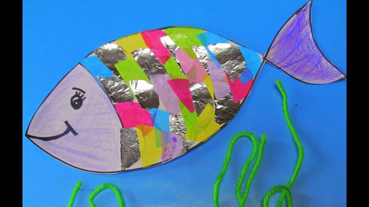 How to make a Rainbow fish - YouTube