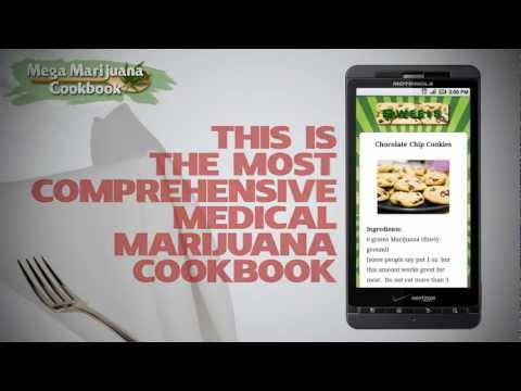 The Weed Cookbook Mega Marijuana Cookbook Android iPhone App Strain & Grow Guide, Cannabis Cooking