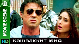 Sylvester Stallone saves the day | Kambakkht Ishq | Movie Scene