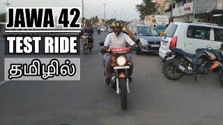 JAWA 42 Bike   Test Ride (Performance, Road Test)   Tamil(தமிழ்)   B4Choose