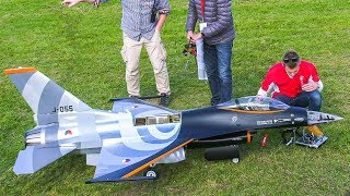 RC TURBINE MODEL JET F-16 IN DETAIL AND FLIGHT DEMO!! / Jet Power Fair 2017