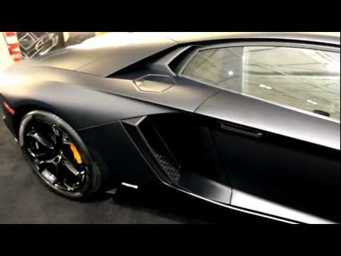 Matte Black 2013 Lamborghini Aventador LP700-4, New England International Auto Show
