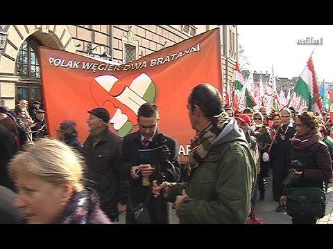 Węgrzy Na Marszu Niepodległości W Krakowie.