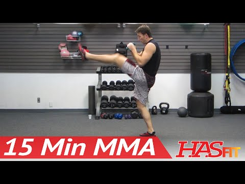 UFC TRAINING MMA WORKOUT - 15 Min MMA Training Conditioning w/ PRO Fight Coach Kozak Image 1