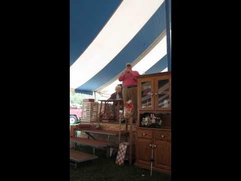 John Kline auctioneer at Hartville Christian School Sale 8-8-12