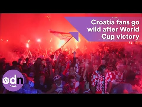 Croatia fans in Zagreb go crazy after World Cup victory thumbnail