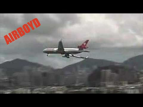 Taken from the checkerboard used for the approach into Kai Tak. Odd crosswind landing. IGS 13 http://bit.ly/78Fqcz Click to subscribe! http://bit.ly/subAIRBOYD The most viewed aviation channel...