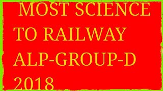 MOST SCIENCE TO RAILWAY 2018