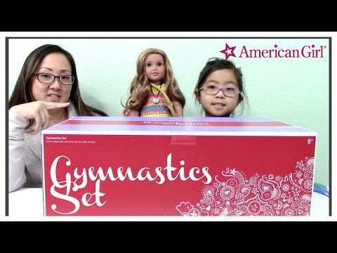 American Girl Gymnastics Set w/ Lea Clark - Unboxing & Toy Review