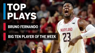 Highlights: Bruno Fernando Wins First Player of the Week Honor | Maryland | Big Ten Basketball