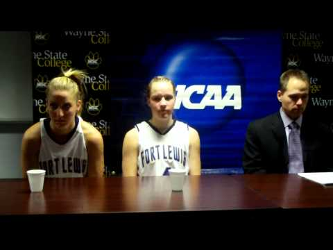 Fort Lewis Press Conference at NCAA DII Central Region Women's Basketball