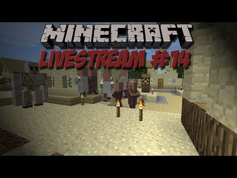 Minecraft Singleplayer Livestream #14 – Συνέχεια του χωριού