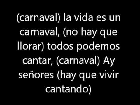 La vida es un Carnaval- Celia Cruz (letra)
