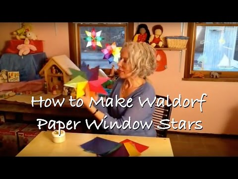 How to Make Waldorf Paper Window Stars