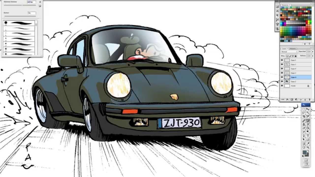 Pau How To Draw A Porsche 911 Turbo 930 Youtube