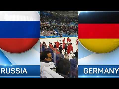 Хоккей. Россия - Германия.  Финал 2018.  Овации с трибуны.