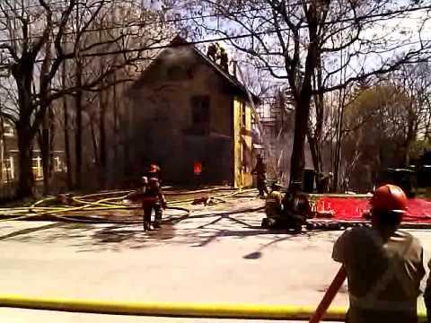 Incendie sur la rue London à Sherbrooke