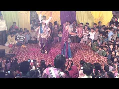 dance of radhey krishna in jagran at jahanghir puri delhi i block