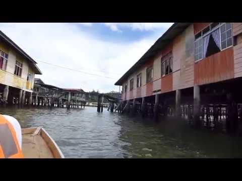 Bandar Seri Begawan, Brunei - Cruising through Kampong Ayer (Water Village)