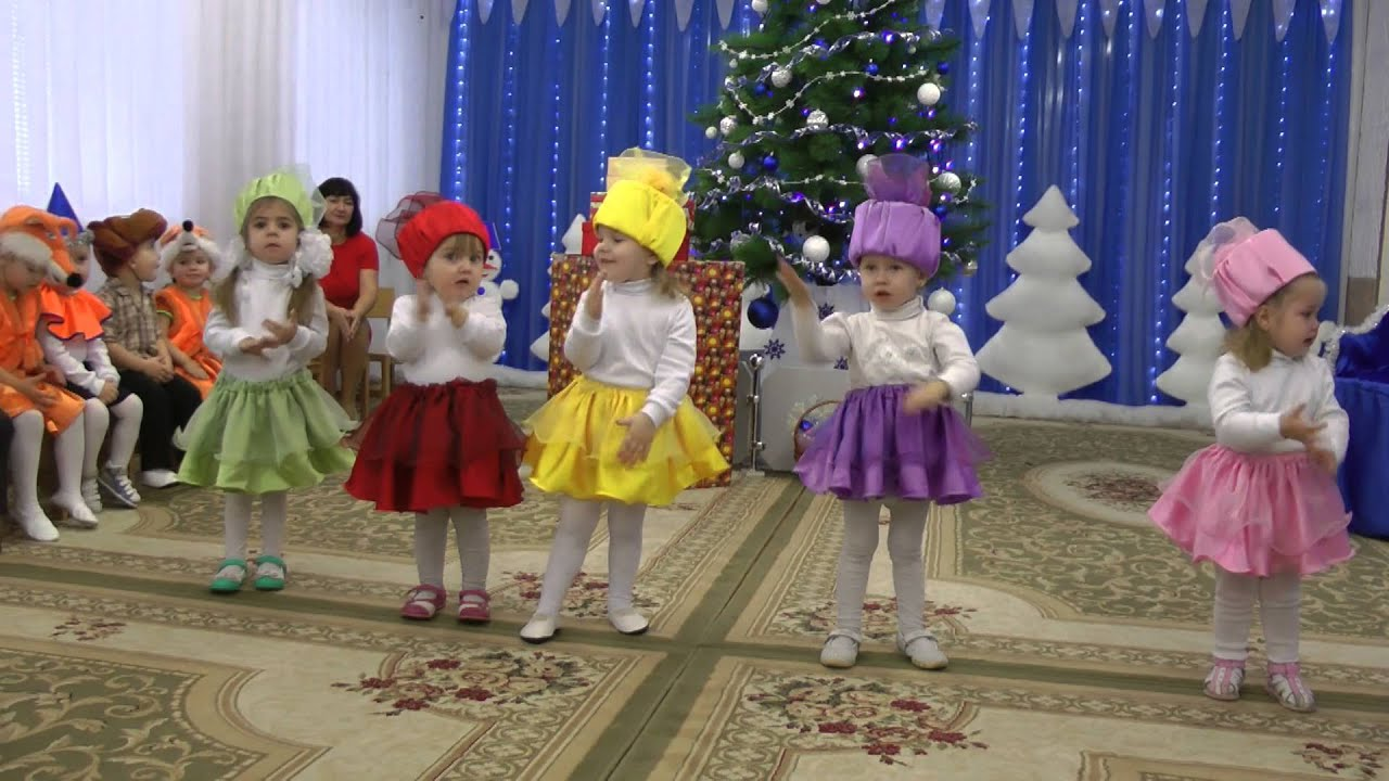 Танец с малышами на новый год