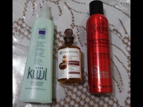 Favoritos para el cabello champu en seco, aceite reparador, tratamiento bifasico.