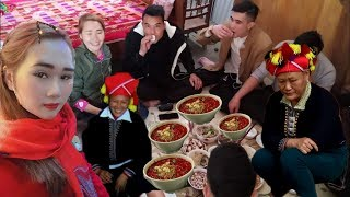 DTVN - ĐI ĂN TẾT SỚM của dân tộc DAO ĐỎ tại nhà em Phương Anh