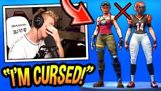 Tfue LOSES Every Game And Plays WORSE While Wearing *NEW* Female NFL & Bullseye Skins (CURSED)