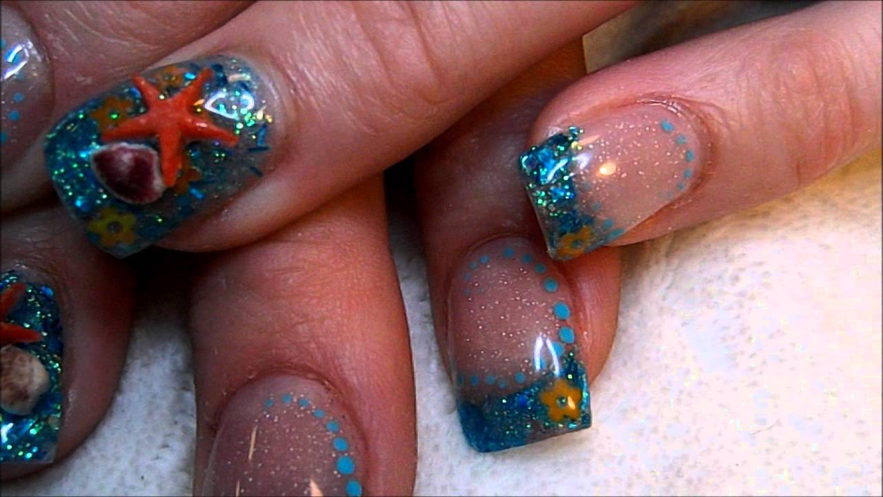 Under The Sea Acrylic Nails