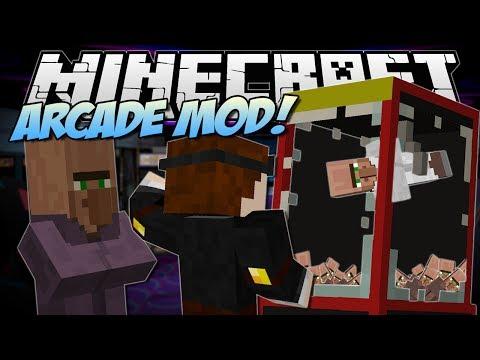 Minecraft | ARCADE MOD! (Claw Machines, Prizes & More!) | Mod Showcase