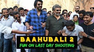 Baahubali 2 Fun on Last Day Shooting | #Baahubali 2, #prabhas, #ss rajamouli, #anushka