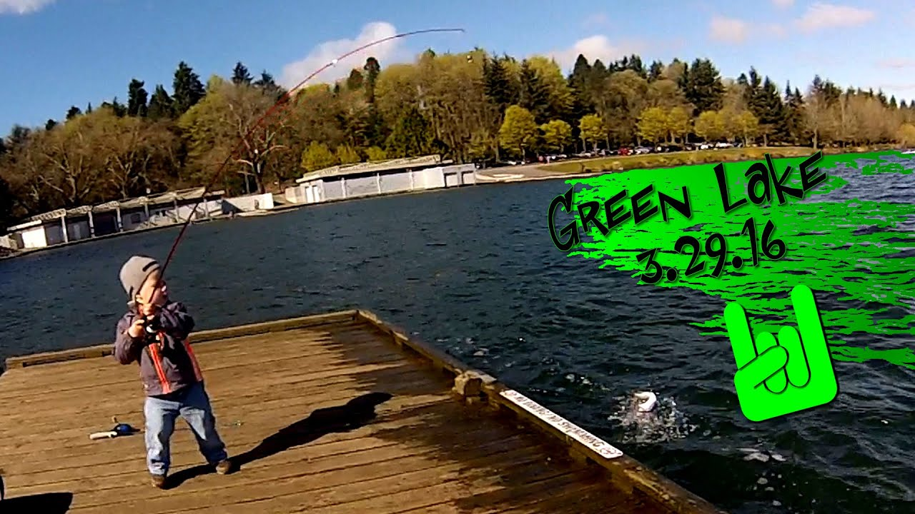 2 Year old Fishes Better than You   Green Lake Fishing in Seattle 3 29 16