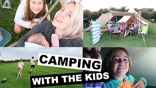 SIX GO CAMPING | WEEKEND FAMILY VLOG | Kate+